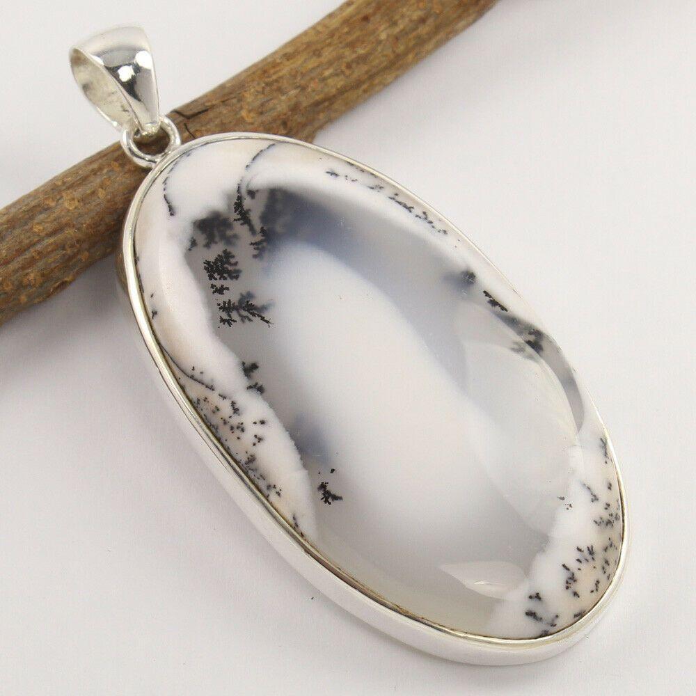 Agate Pendant. Dendrite Silver Pendant Dendrite Pendant Dendrite Necklace Dendrite Jewelry Agate Silver Pendant 925 Sterling Silver