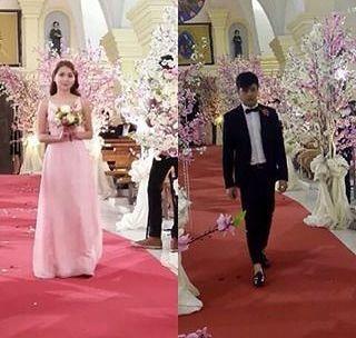 Here comes the Groom and the Bride ❤❤ // @bernardokath  @supremo_dp { #kdnation  #kathniel  #kathrynbernardo  #danielpadilla } … Admin @marieellaine ⓒ