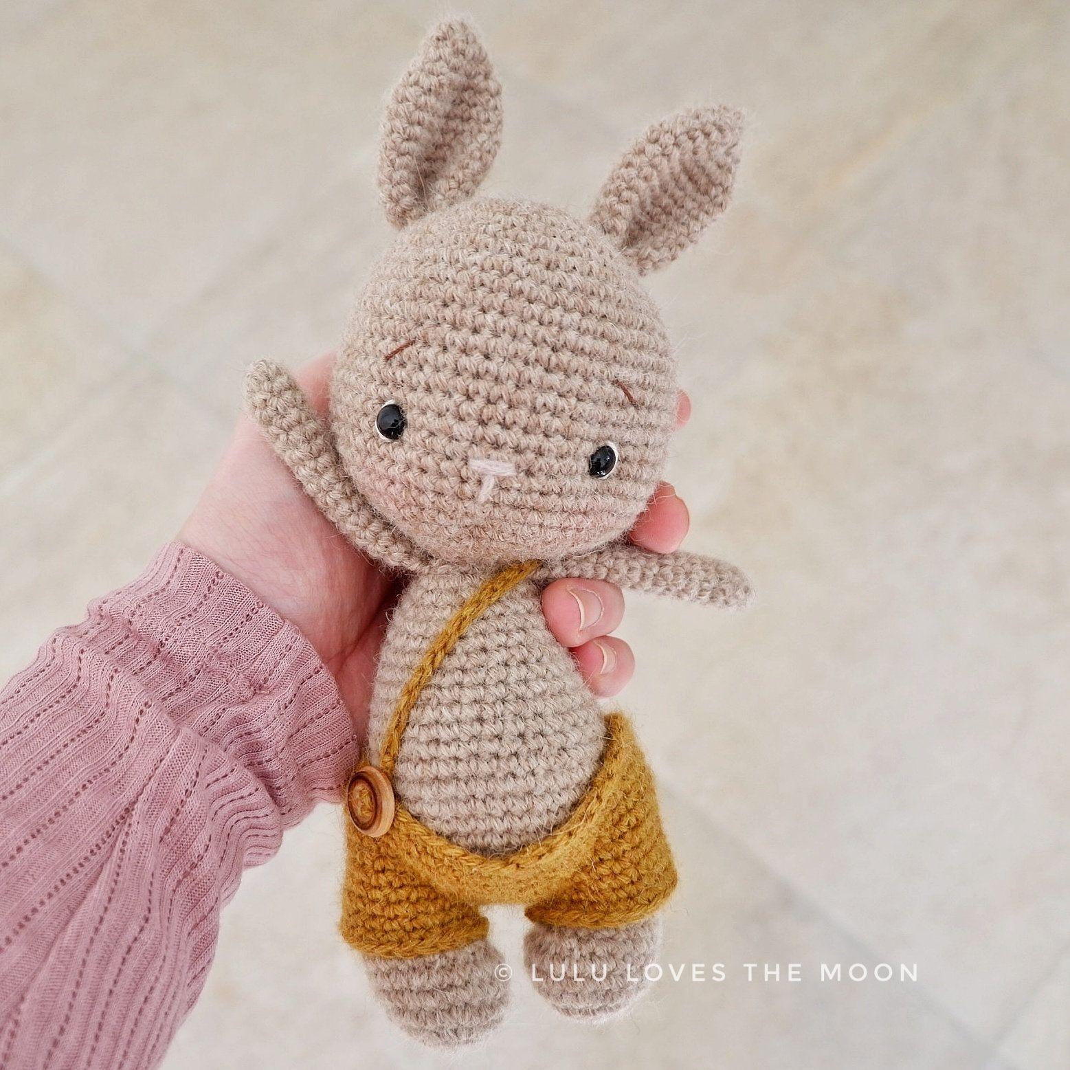 Pretty Bunny with floppy ears - Crochet Pattern | Hase häkeln ... | 1557x1557