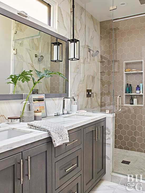 Modern Tiled Bathroom With Neutral Colors