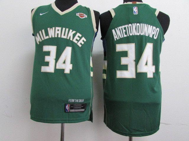 NBA Milwaukee Bucks Giannis Antetokounmpo #34 Jerseys # ...