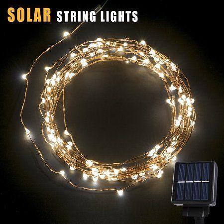 Solar Led String Lights Outdoor Oak Leaf 120 Leds Outdoor Solar Powered Led String Lights 19Ft