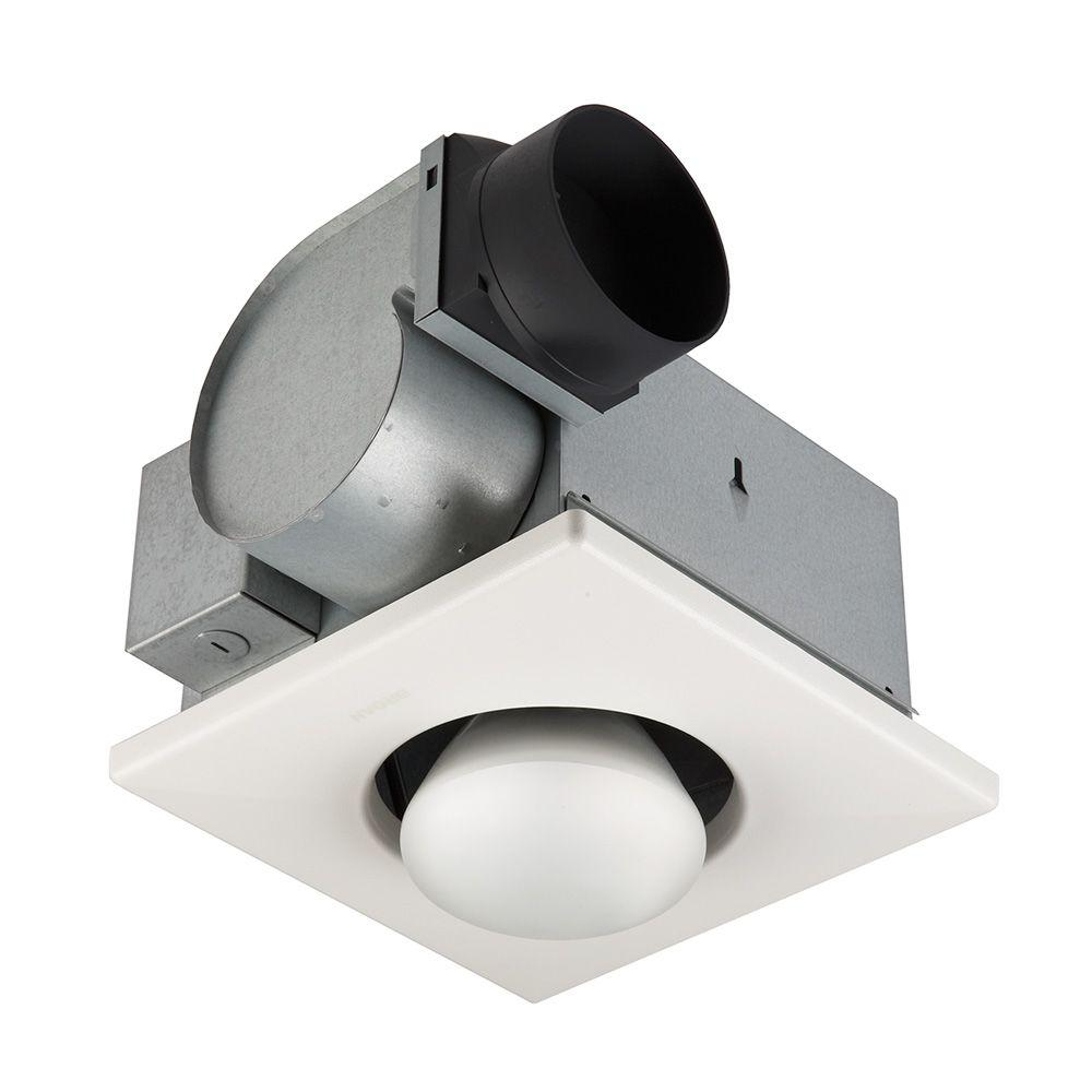 Broan 3 5 Sone 70 Cfm White Bathroom Fan With Heater And Light