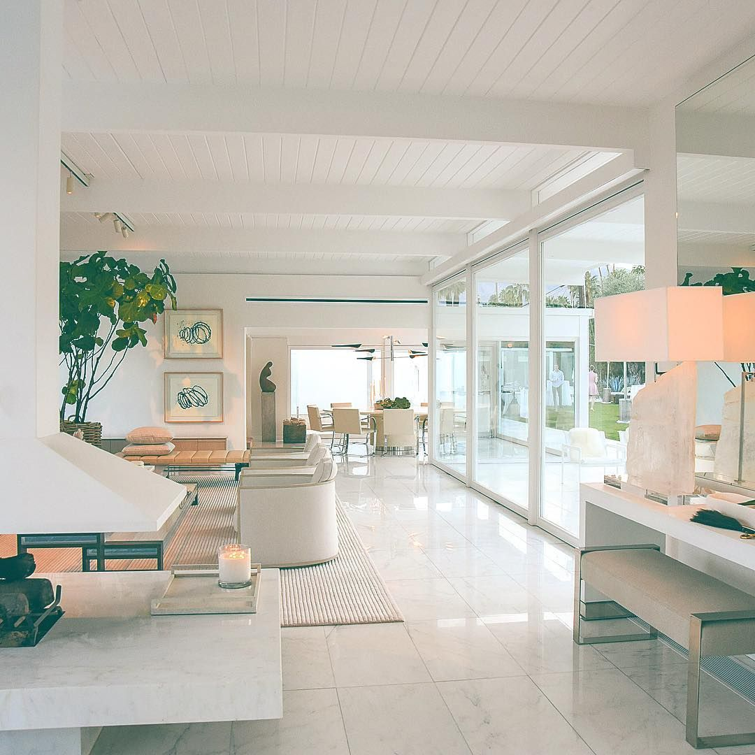 Palette cleanser all white everything at the william - Palm springs interior design style ...