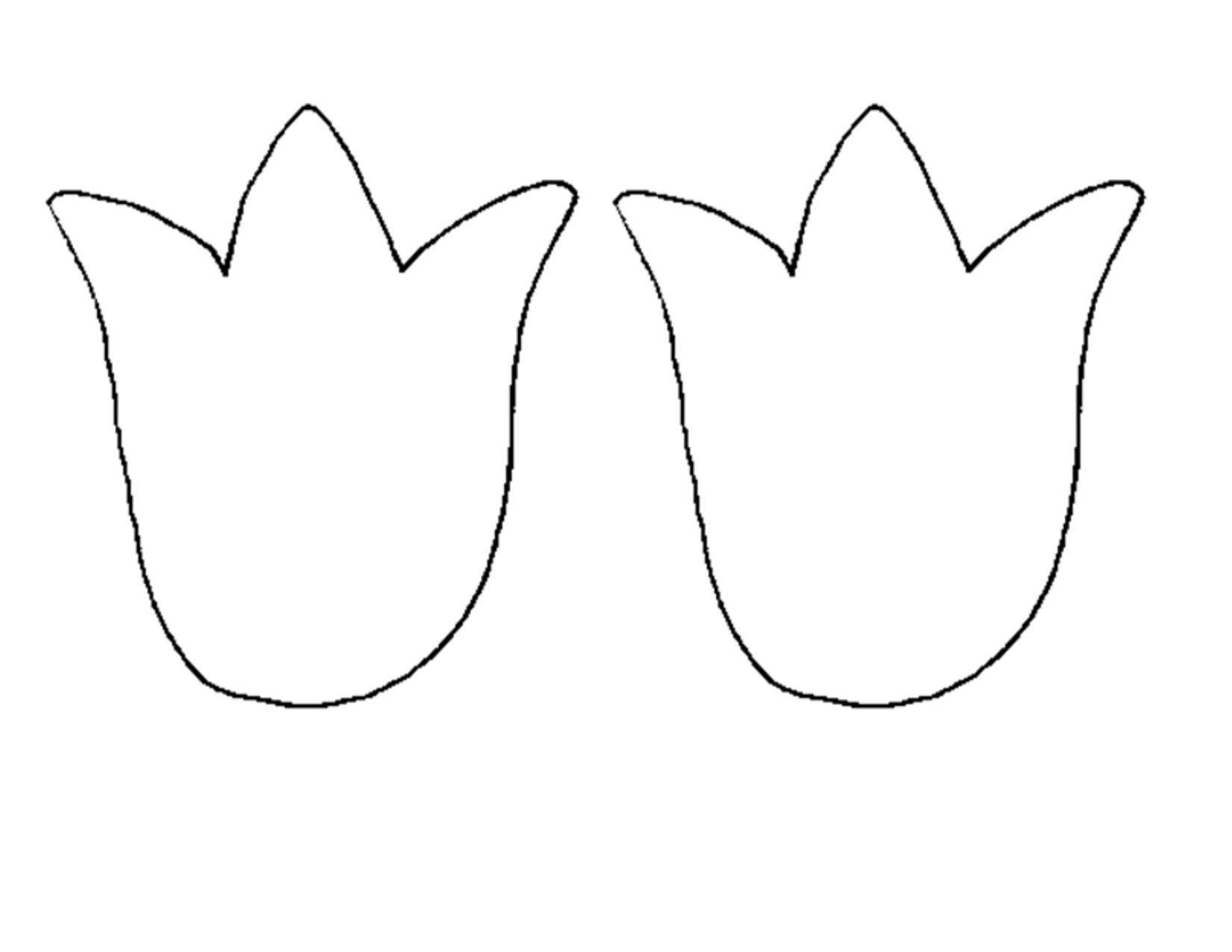 Tulip template yahoo image search results preschool for Preschool flower crafts templates