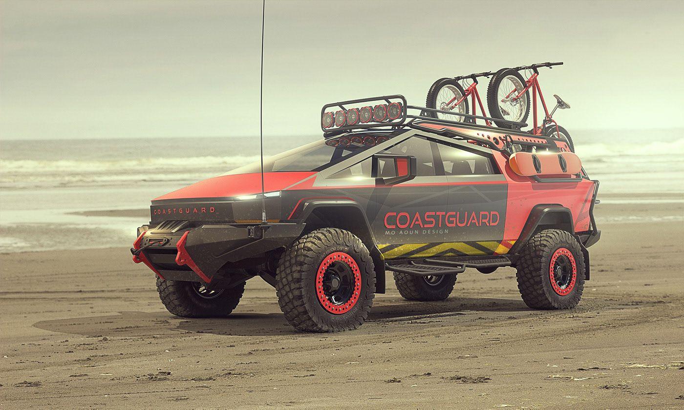 Cybertruck on Behance in 2020 Suv trucks, Tesla model x