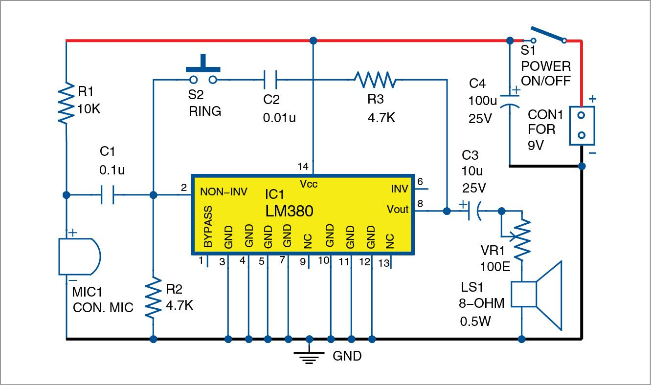 super simple intercom diy arduino circuit intercom circuit diagram simple two wire intercom electronic circuit project [ 1331 x 788 Pixel ]