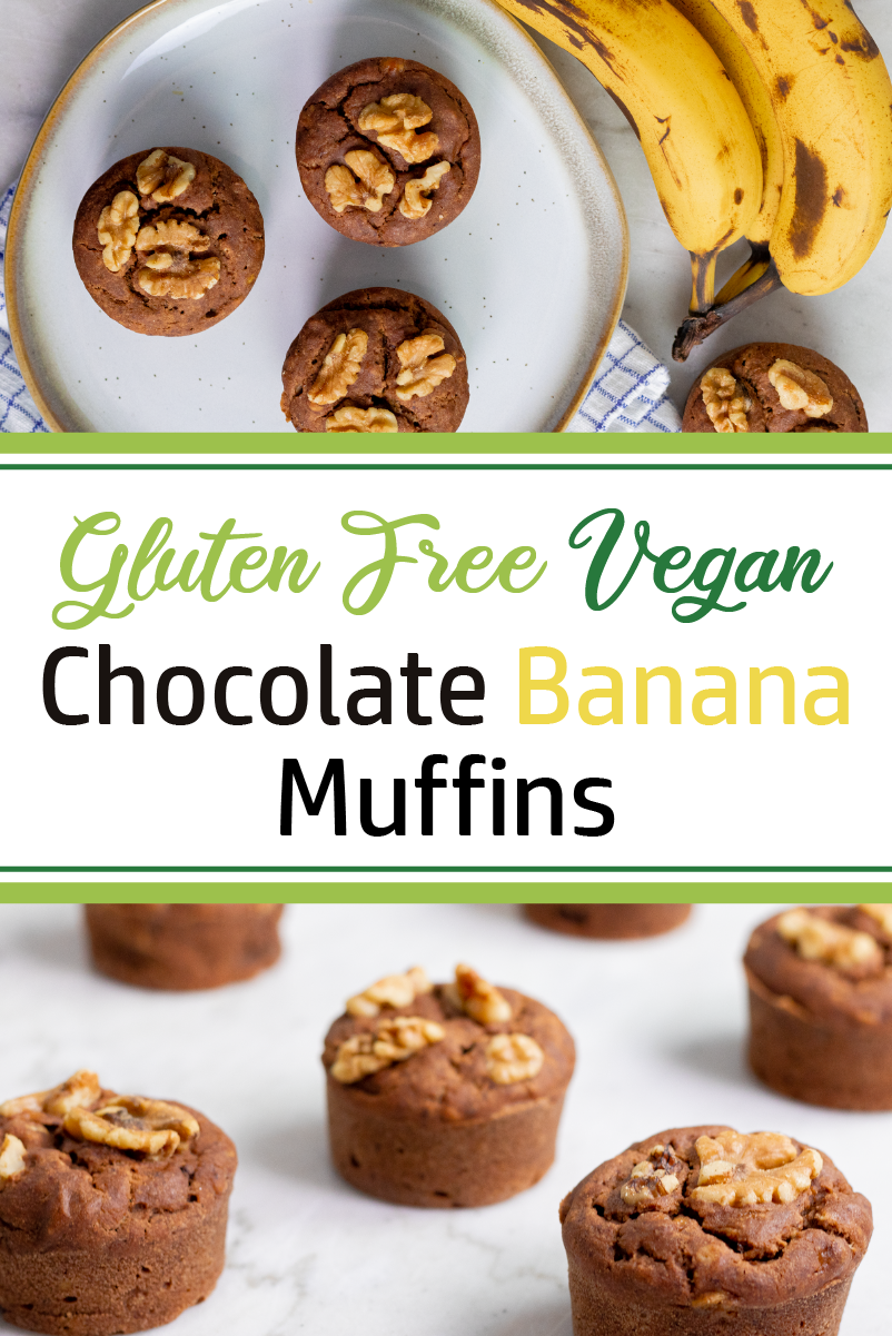 Vegan Chocolate Banana Muffins Recipe In 2020 Vegan Baking Recipes Vegan Chocolate Recipes Using Bananas