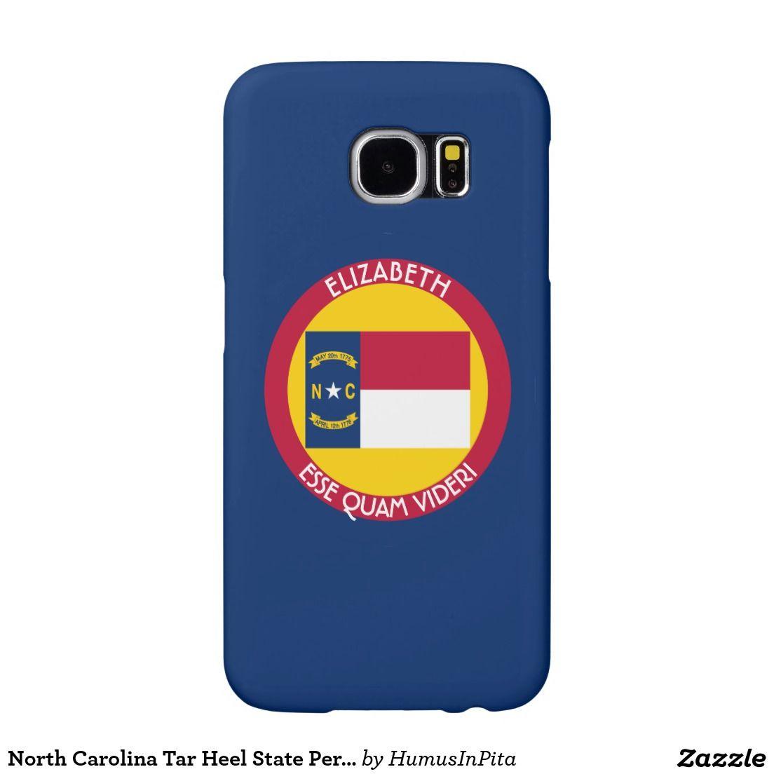 North Carolina Tar Heel State Personalized Flag Samsung Galaxy S6 Cases
