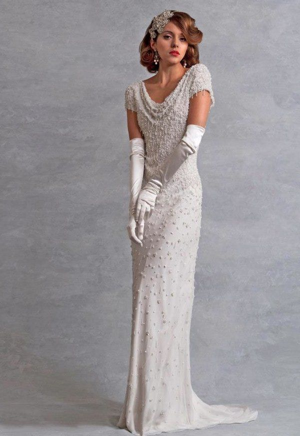 1930 S Inspired Bridal Gowns Wedding Dress Inspired By The 1930s