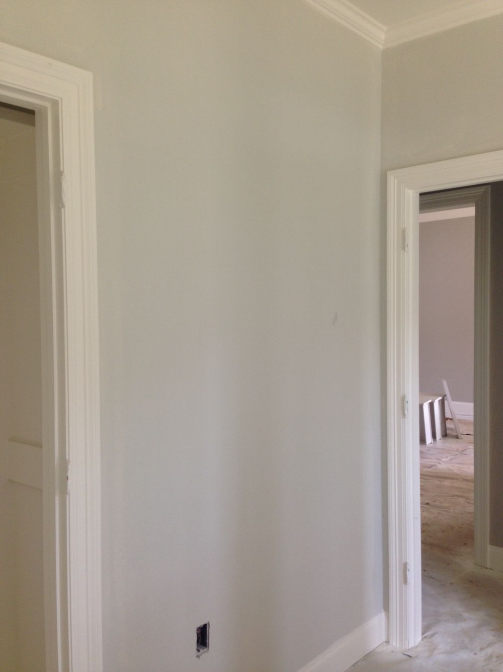 Walls Are Benjamin Moore Classic Gray Trim Is BM White Dove Paint Colors In 2019 Paint