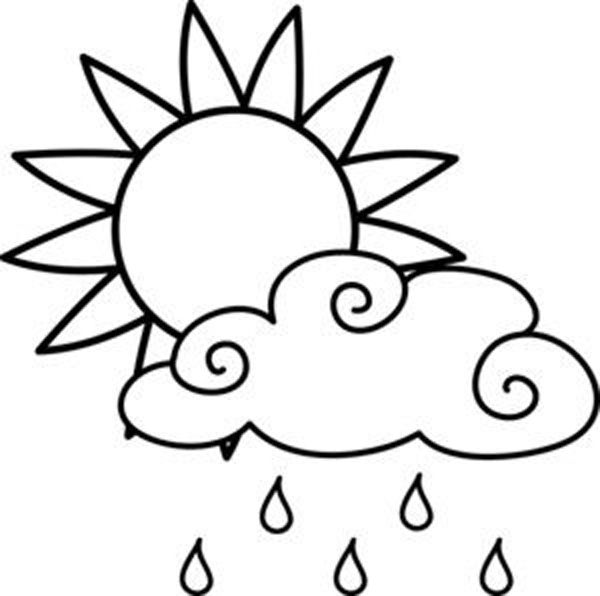Rain Clouds Coloring Pages