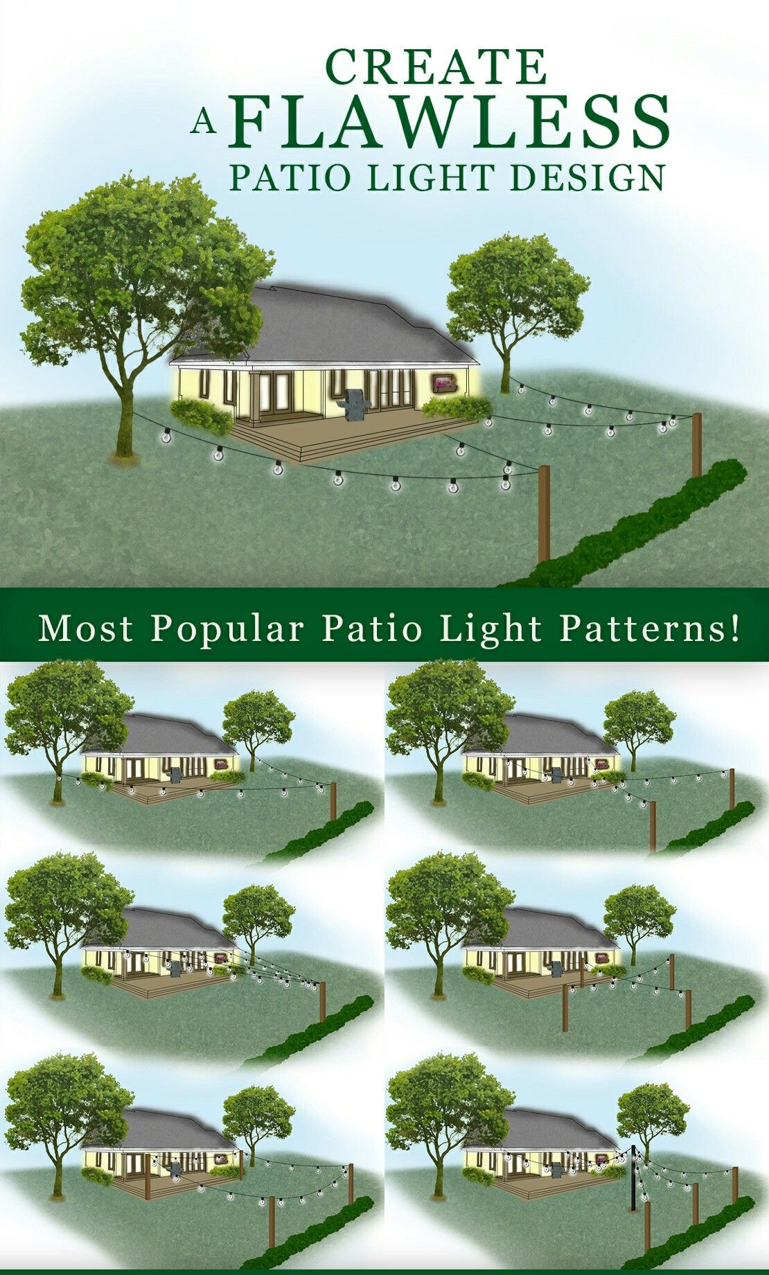 Patio Light Patterns How To Plan And Hang Patio Lights With
