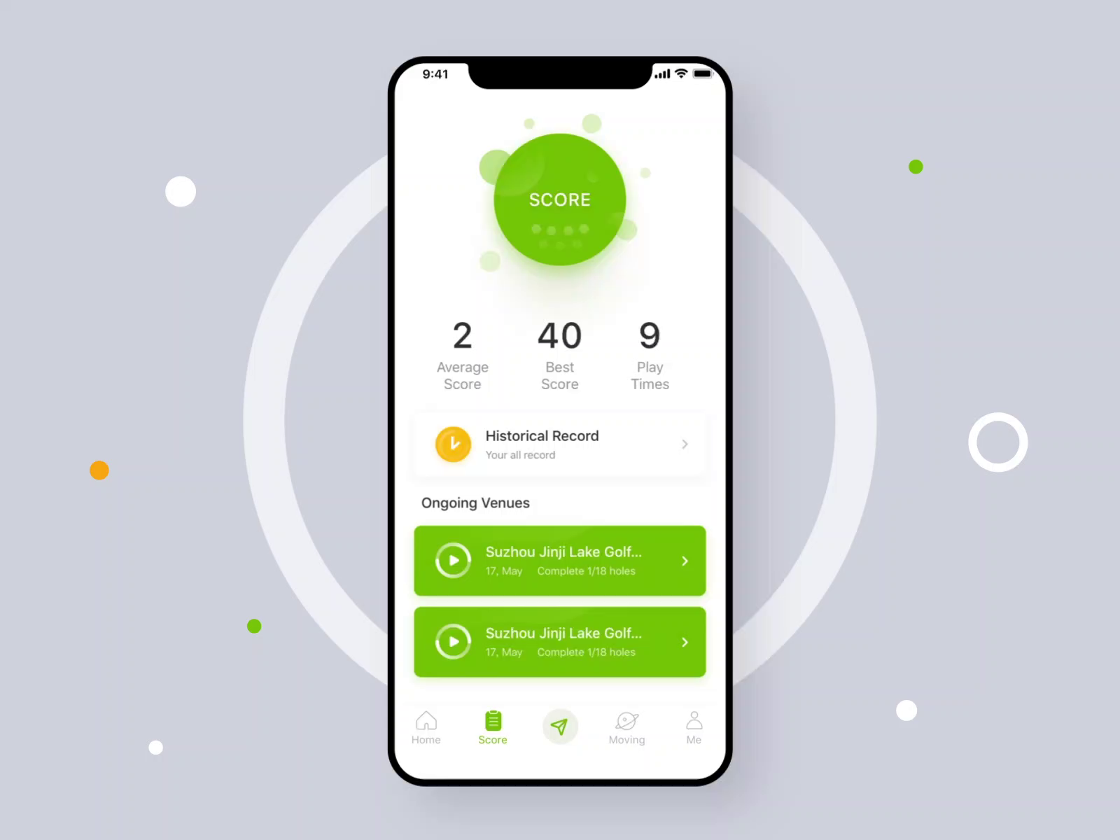 Golf Score Animation By Howard Chen App Design Layout App Design Inspiration App Interface Design