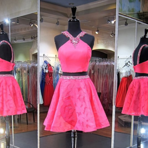 Homecoming Dress,2 Piece Homecoming Dresses,Pink Sweet 16 Dress ...