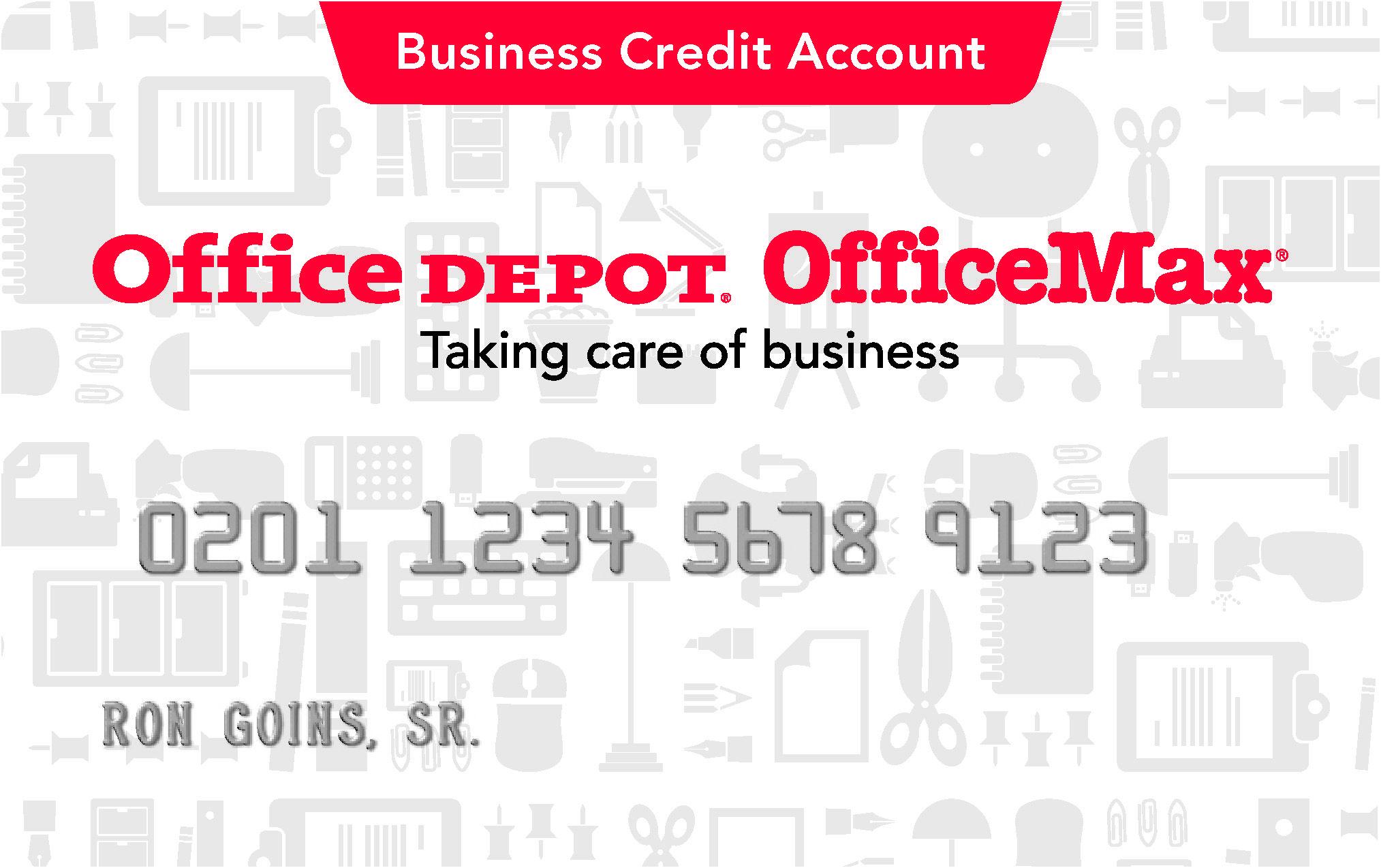 Office Depot Credit Card Office depot business cards