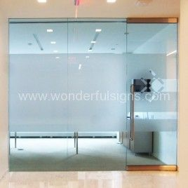 Confrence Room Frosted Glass Walls On Glass Frosted Vinyl Logo