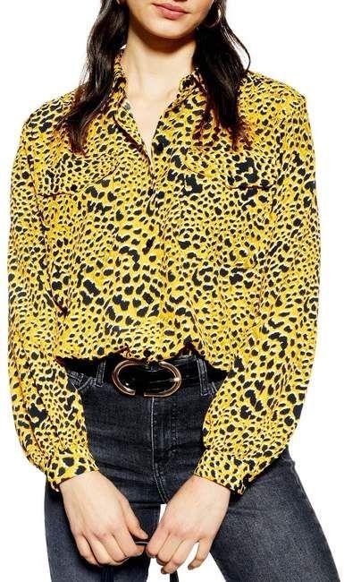1e29de02633e56 Leopard Print Shirt in 2019 | Products | Printed shirts, Shirts, Topshop