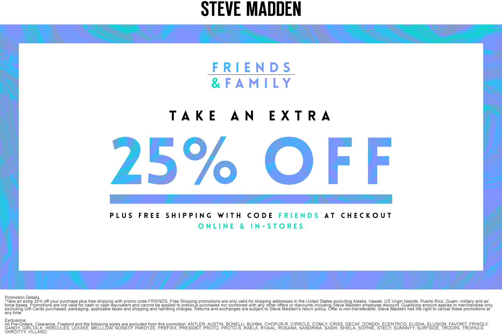 free ship via promo code FRIENDS