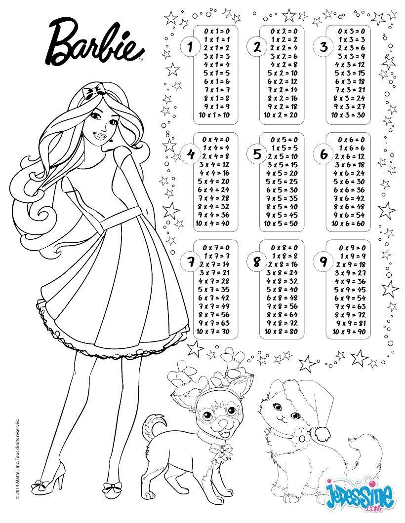 VermehrungsTabelle  Barbie Malvorlagen