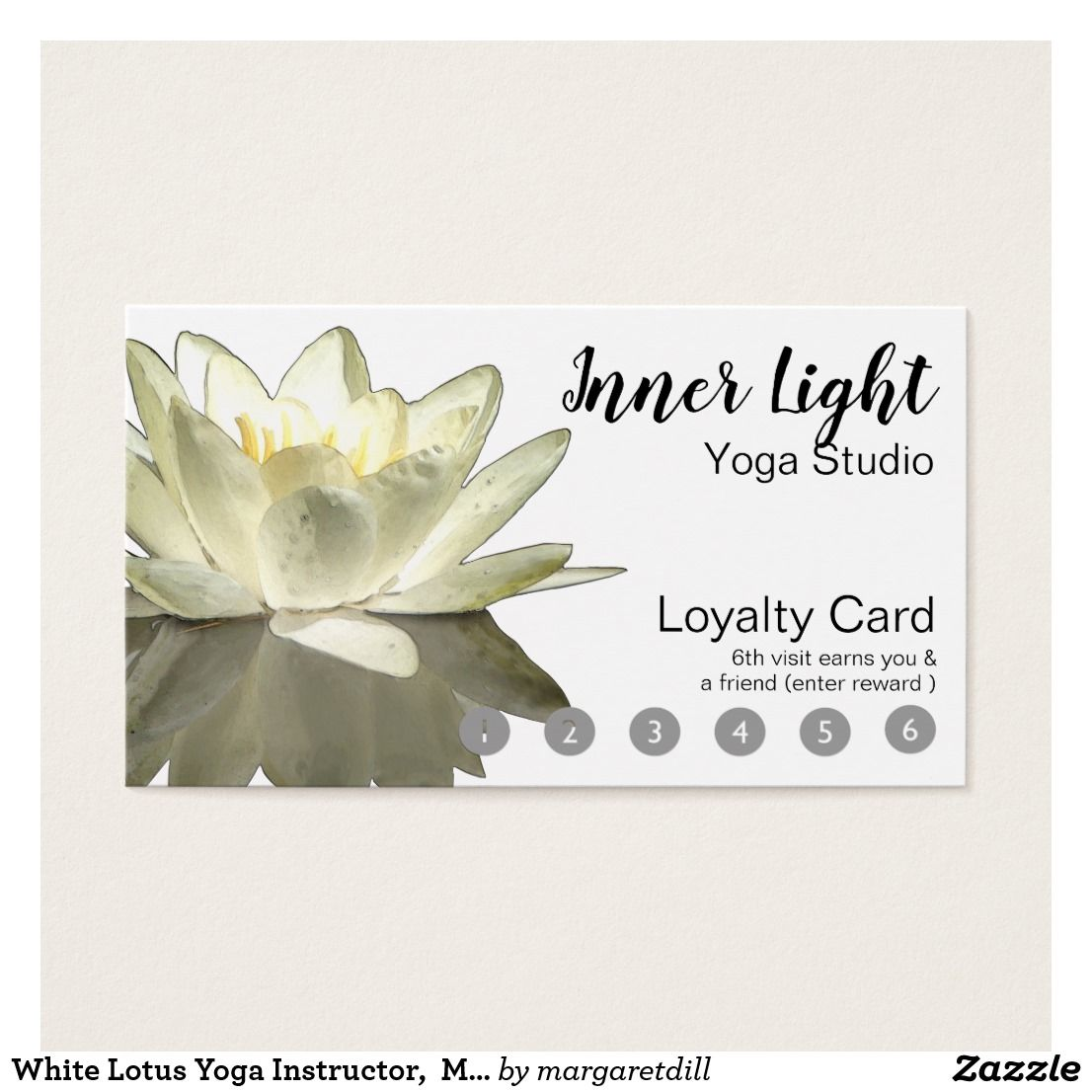 White Lotus Yoga Instructor, Modern Loyalty Business Card   Business ...