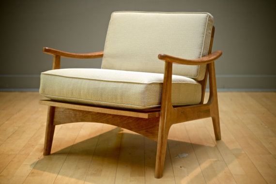 Mid Century Modern Accent Chair Danish Furniture Living Room