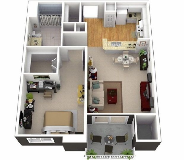 3d Small House Design And Interior Plan For House Small House Floor Plans Small House Plans Small House Design Interior design plan for small house