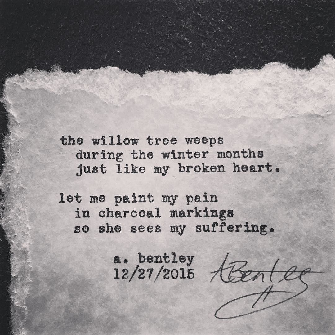 Willow tree weeps this short poem has a cryptic meaning leave a willow tree weeps this short poem has a cryptic meaning leave a comment if you understand what it is poetry poem poems typewriter willow biocorpaavc Image collections