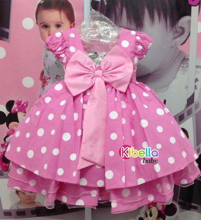 Vestido de minnie rosado