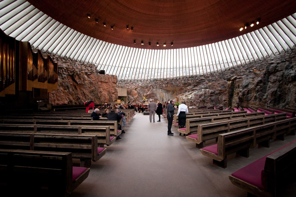 Temppeliaukio Church  Helsinki, Finland. 1969  Architects: Timo and Tuomo Suomalainen