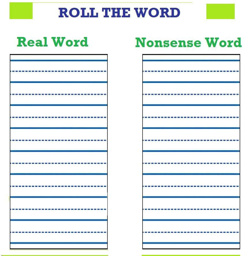 roll foam letters to create words during word work