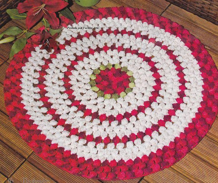 Knitting Pattern For Round Rug : KNITTING PATTERN RUG