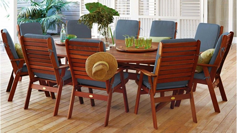 Montreal 13 Piece Outdoor Dining Setting - Outdoor Dining - Outdoor ...