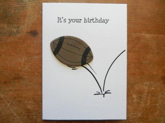 Football Birthday Card Football Card Football Birthday Birthday Card For Football Football Birthday Cards Birthday Cards For Boyfriend Homemade Birthday Cards