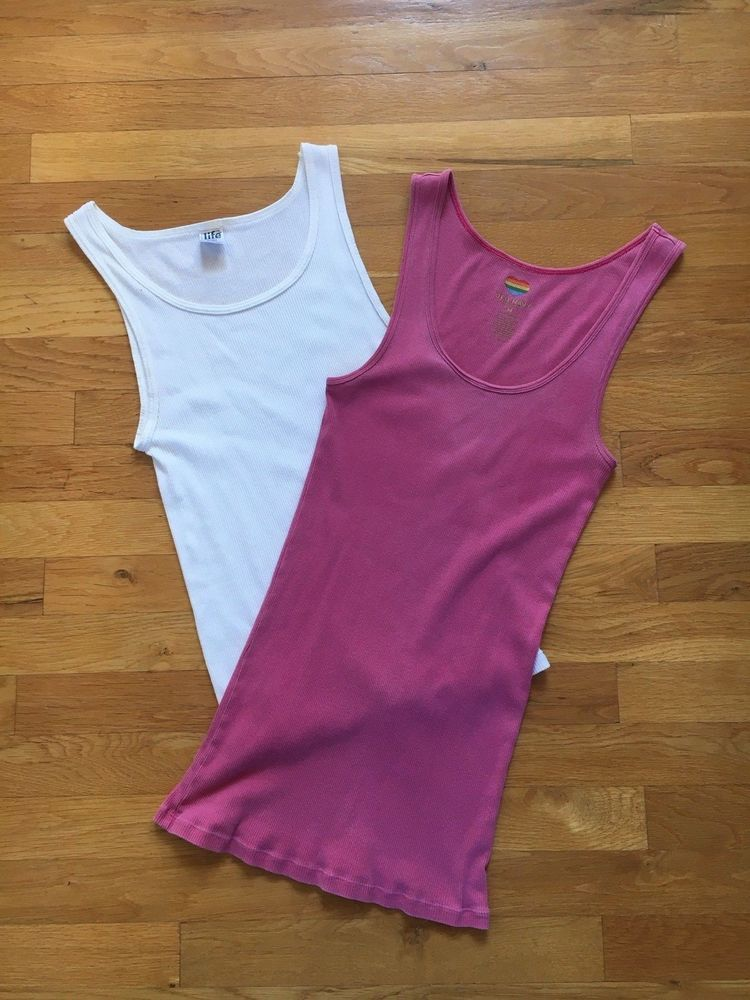 0f7786a20b865 Womens Old Navy   Life Sz Medium Ribbed Tank Tops Lot of 2  fashion   clothing  shoes  accessories  womensclothing  tops