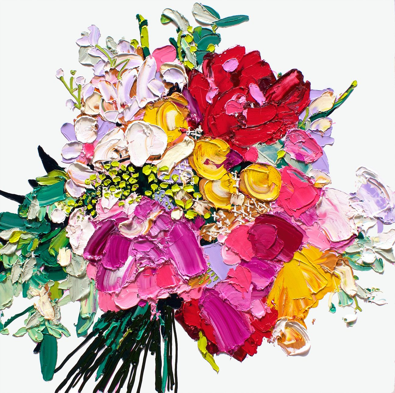 Inspired by perfectly arranged bouquets of flowers, the incredible  voluminous oil works of Sydney based artist capture their life and beauty  to a tee.