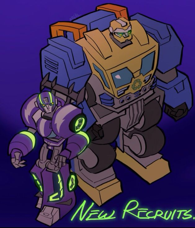 New Recruits Blurr And Salvage From Transformers Rescue Bots