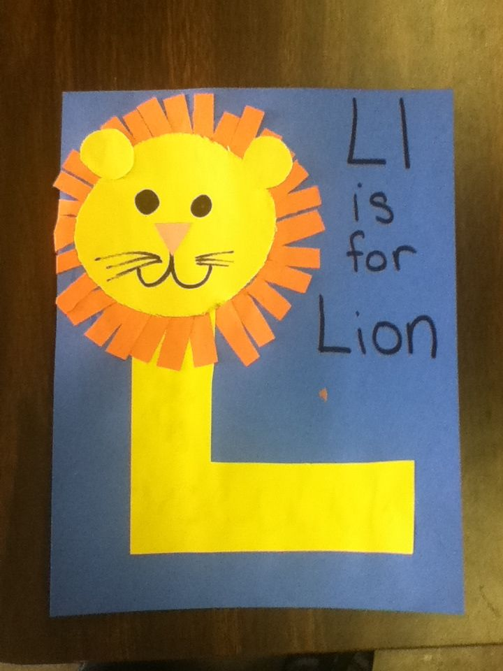 letter l easy lion craft for kids preschool kidscrafts