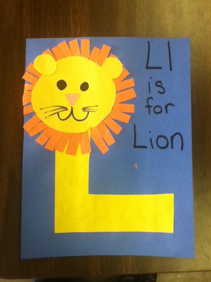 Letter L Easy Lion Craft For Kids Preschool Kidscrafts Alphabet