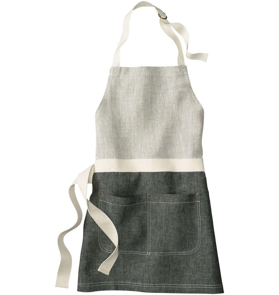 Black and oatmeal linen apron rejuvenation tabliers tablier tablier cuisine tablier enfant - Tablier jardinage enfant ...