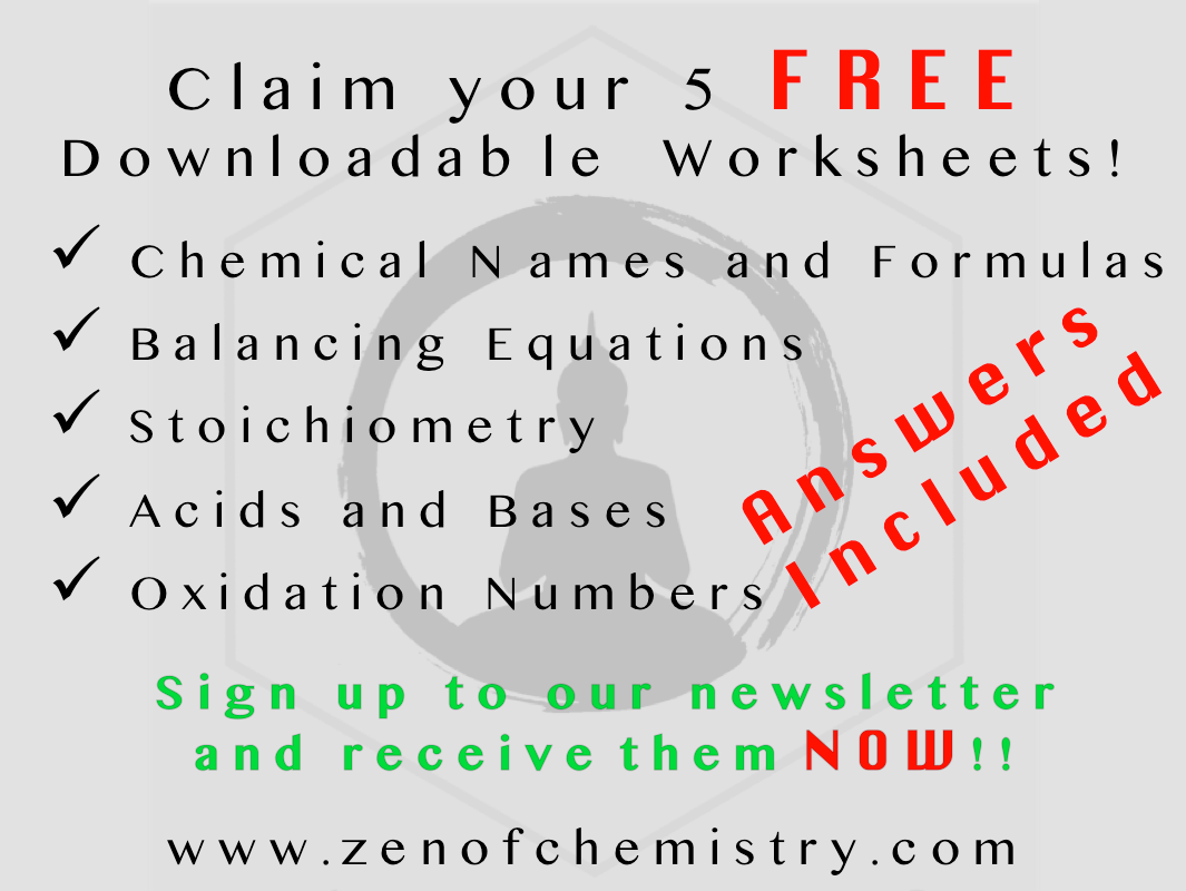 Claim Your Free Downloadable Chemistry Worksheets When You
