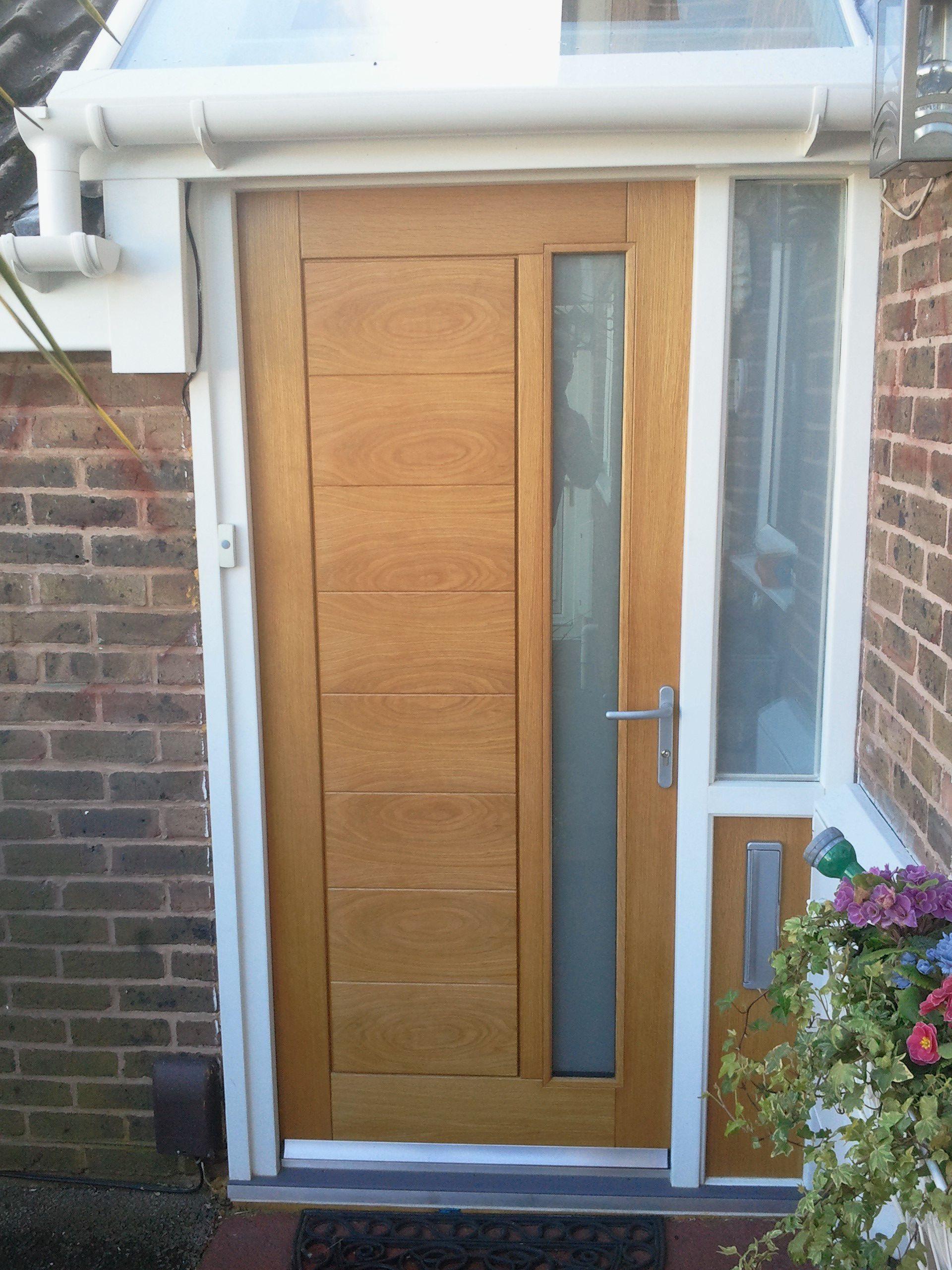 External Modena Door In Oak Makes A Striking Front Door With A
