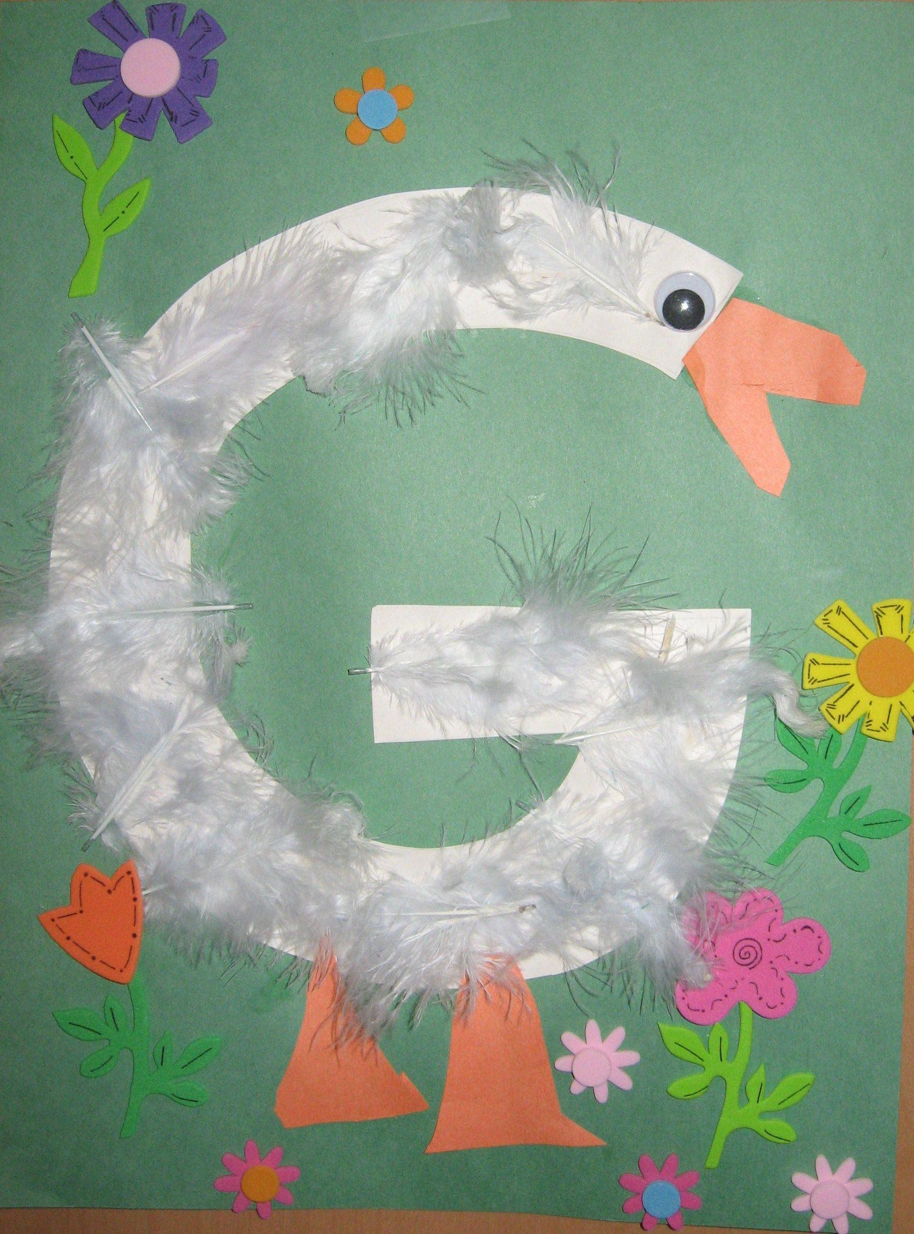 G Goose 003 Education Pinterest Letter A Crafts Preschool And