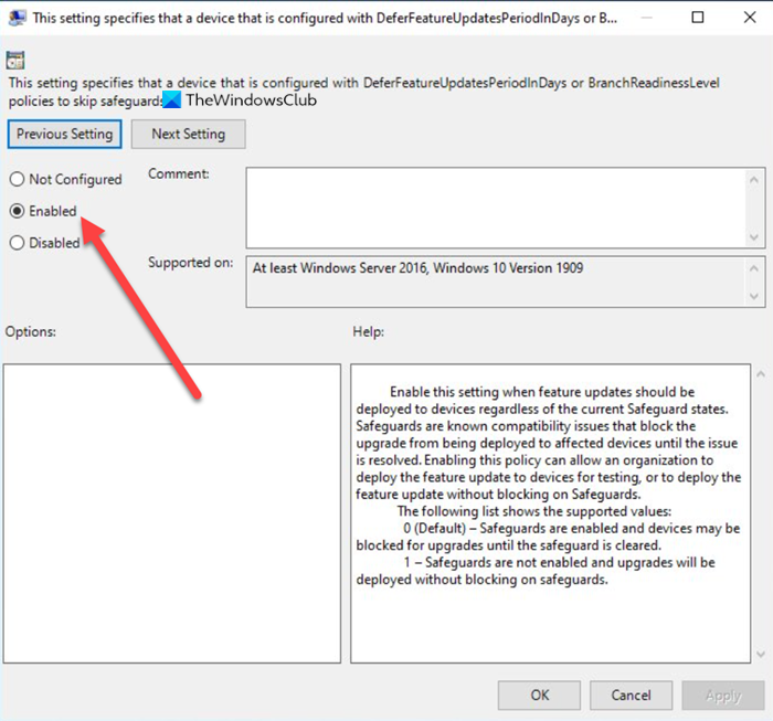 Deploy Features Updates Configured With Safeguard Group Policies Group Policy Deployment Policies