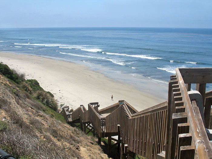 San Elijo State Beach Campground In Cardiff Ca Has Several Camping Es For Tents And Rvs Along Sea Bluffs Overlooking