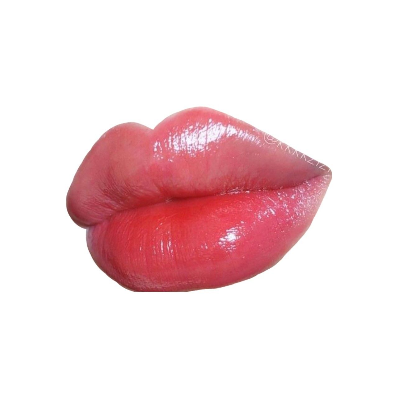Red Pink Lips Polyvore Moodboard Filler Mouth With Images Pink