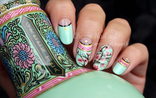 Nail Art Arizona A L Aquarelle Et Acrylique Ongles Vernis Nail