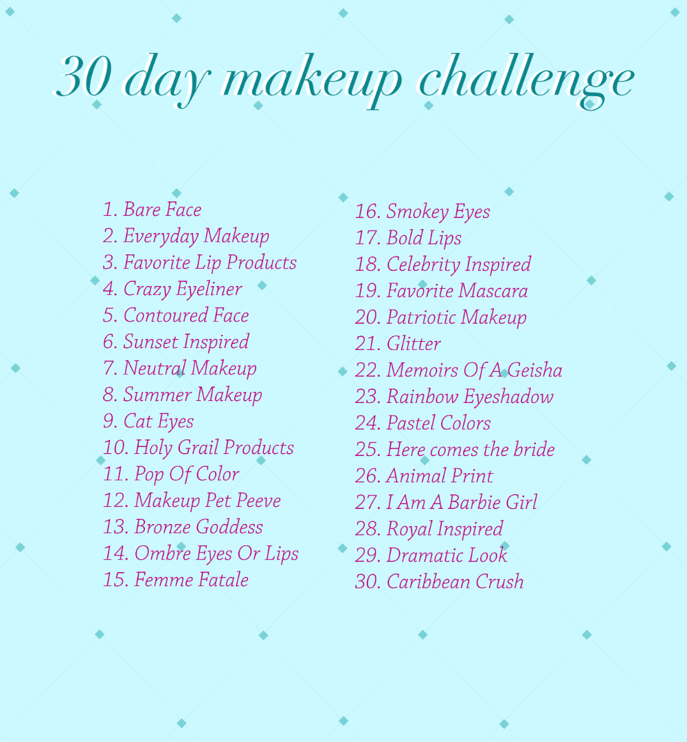 30 Day Makeup Challenge In 2020 Makeup Challenges Aesthetic Makeup Day Makeup