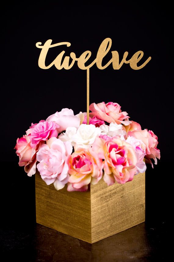 Gold Wedding Table Numbers By Betteroffwed On Etsy