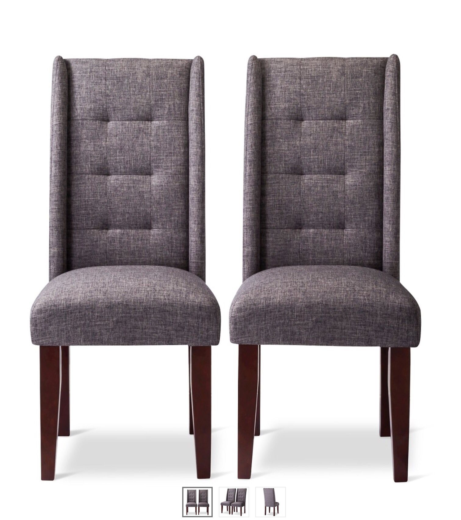 Incredible Charlie Modern Pintuck Wingback Dining Chairs Furniture In Caraccident5 Cool Chair Designs And Ideas Caraccident5Info
